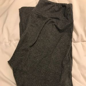 LuLaRoe OS gray heathered leggings